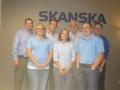 Skanska at Peoria goes blue