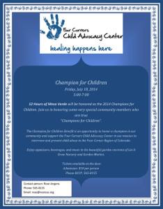 2014 Champion for Children Event   Four Corners Child Advocacy Center