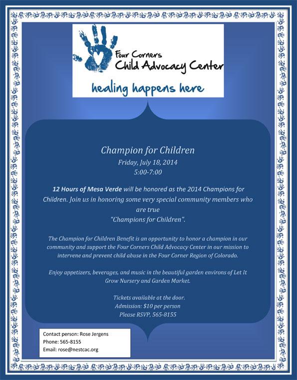 2014 Champion for Children Event | Four Corners Child Advocacy Center