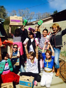 What a special day!  Girl Scout Troop 20278 of Cortez honored us by making Four Corners Child Advocacy Center their Hometown Hero!!  Here these wonderful young women are, presenting our board member, Debbie Lovett, with boxes of Girl Scout cookies to give our young clients!